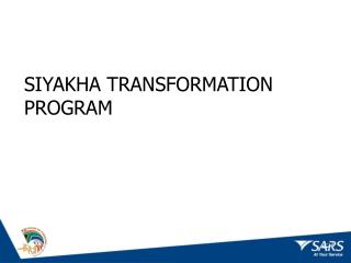 SIYAKHA TRANSFORMATION PROGRAM