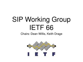 SIP Working Group IETF 66