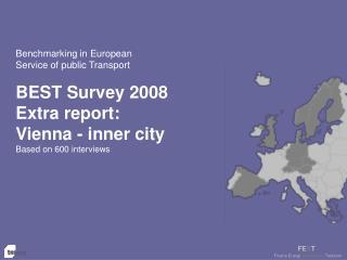 Benchmarking in European  Service of public Transport