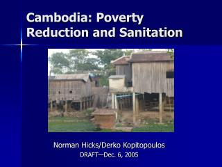 Cambodia: Poverty Reduction and Sanitation
