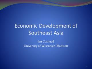 Economic Development of Southeast Asia