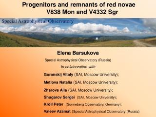 Progenitors and remnants of red novae                  V838 Mon and V4332 Sgr