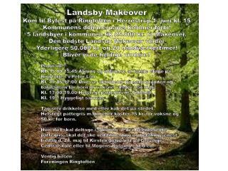 Landsby Makeover Kom til Byfest på Ringtoften i Herrestrup 1. juni kl. 15