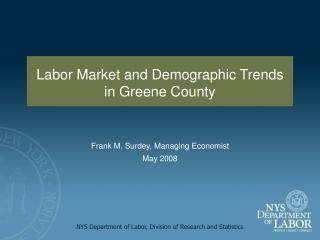 NYS Department of Labor, Division of Research and Statistics