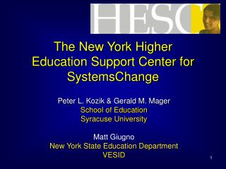 The New York Higher Education Support Center for SystemsChange