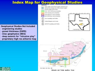 Index Map for Geophysical Studies