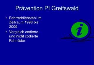 Pr�vention PI Greifswald