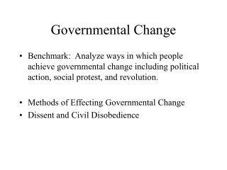 Governmental Change
