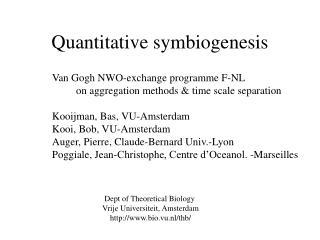 Quantitative symbiogenesis