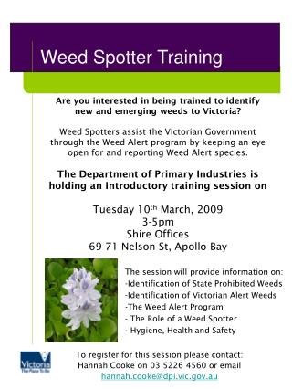 Weed Spotter Training