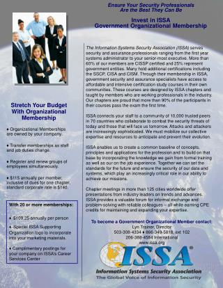 Stretch Your Budget With Organizational Membership