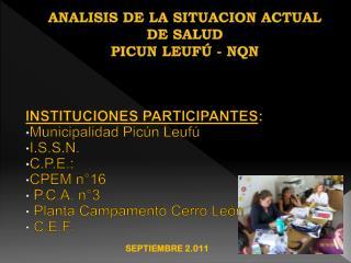 ANALISIS DE LA SITUACION ACTUAL DE SALUD PICUN LEUFÚ - NQN