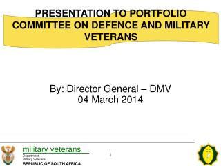 By: Director General – DMV 04 March 2014