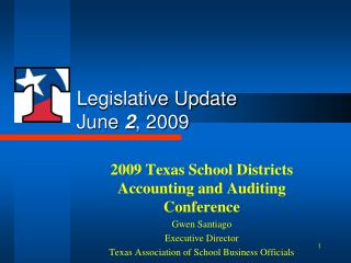 Legislative Update June  2 , 2009