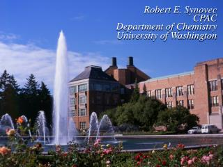 Robert E. Synovec CPAC Department of Chemistry University of Washington