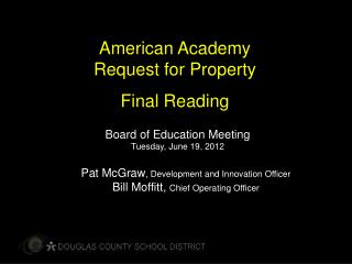 American Academy Request for Property Final Reading