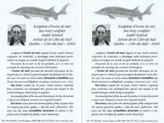 187, Des Érables, Cap St-Ignace G0R 1H0 418-234-4612, seaivory