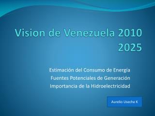 Vision de Venezuela 2010 2025