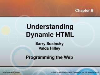 Understanding Dynamic HTML