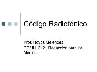 C digo Radiof nico
