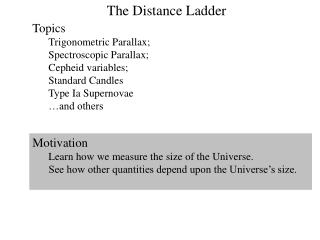 The Distance Ladder