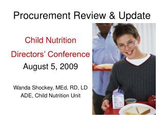Procurement Review & Update