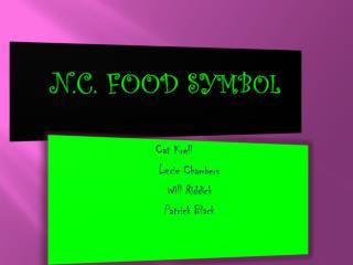 N.C.  FOOD SYMBOL