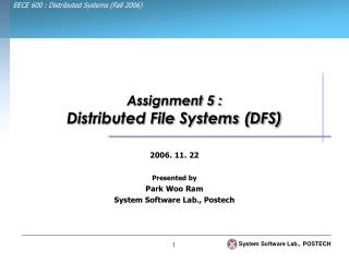 Assignment 5 : Distributed File Systems (DFS)