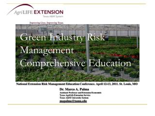 Green Industry Risk Management Comprehensive Education