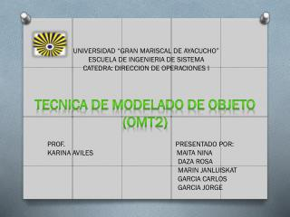"""UNIVERSIDAD """"GRAN MARISCAL DE AYACUCHO"""" ESCUELA DE INGENIERIA DE SISTEMA"""