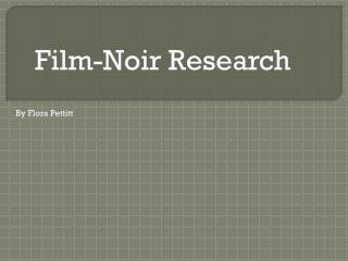 Film-Noir Research
