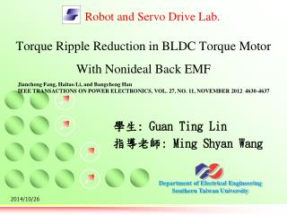 Torque Ripple Reduction in BLDC Torque Motor With Nonideal Back EMF