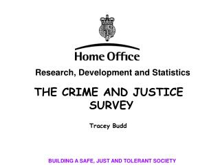 THE CRIME AND JUSTICE SURVEY