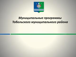 Муниципальные программы  Тобольского  муниципального района