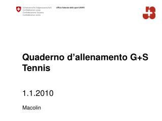 Quaderno d ' allenamento G+S Tennis