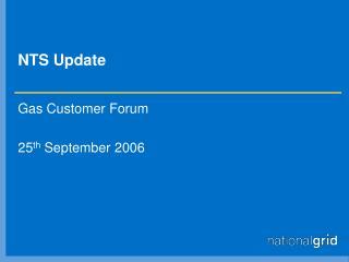 NTS Update