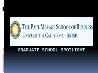 Graduate school spotlight
