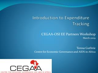 Introduction to Expenditure Tracking