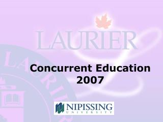 Concurrent Education 2007