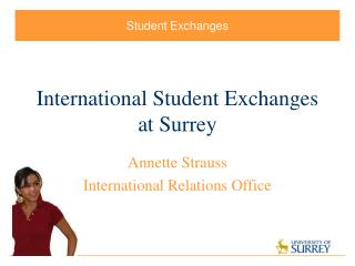International Student Exchanges at Surrey