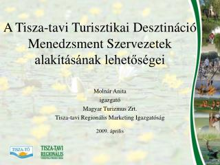 A Tisza-tavi Turisztikai Desztináció Menedzsment Szervezetek alakításának lehetőségei