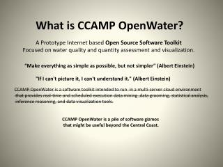 What is CCAMP  OpenWater ?