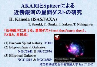 AKARI と Spitzer による 近傍銀河の星間ダストの研究