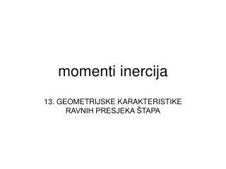 Momenti inercija