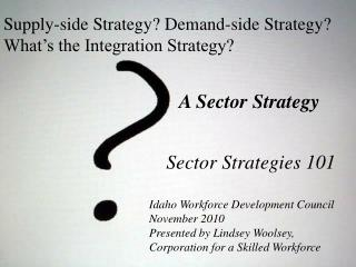 Supply-side Strategy? Demand-side Strategy? What's the Integration Strategy?