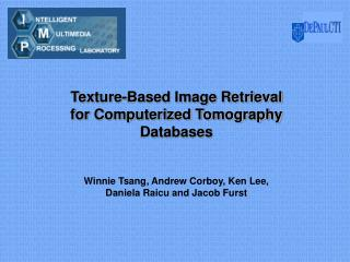 Texture-Based Image Retrieval for Computerized Tomography Databases