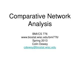 Comparative Network Analysis