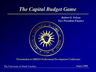The Capital Budget Game
