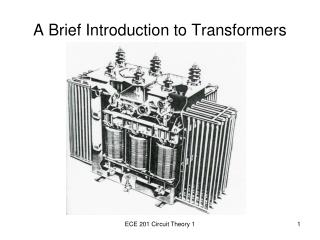 A Brief Introduction to Transformers