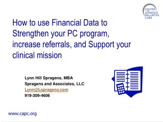 Lynn Hill Spragens, MBA Spragens and Associates, LLC Lynn@Lspragens 919-309-4606